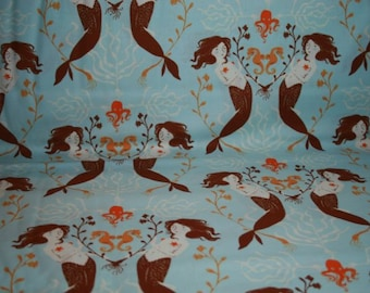 Windham ~ Mendocino ~ Heather Ross ~ Mermaids in Light Blue by the fat quarter or half yard