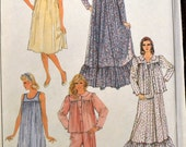 Sewing Pattern Simplicity 8310 Misses' Nightgowns, Pajamas and Robe in size S-M-L, bust 30-42 inches UNCUT Complete