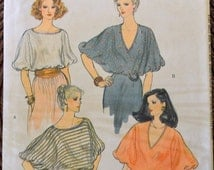 On Sale Vintage Sewing Pattern Vogue 7295 Misses' Tops Bust 31-32 inches Complete UNCUT