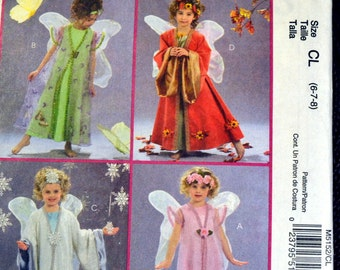 Costume Sewing Pattern McCall's 5152 Girls'  Sizes 6-7-8 Fairy Costumes Complete