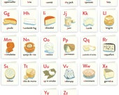 Cheese Alphabet Full Set of 26 Cards