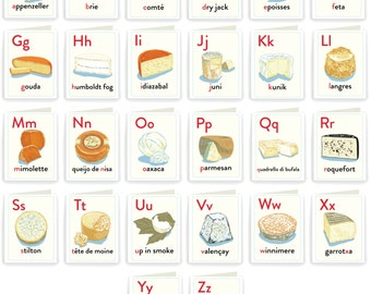 CHEESEBOX26: Cheese Alphabet Full Set of 26 Cards