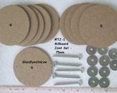 50mm or 55mm or 60mm or 70mm or 75mm Millboard Joint Set for a Complete Teddy Bear or Plush Animal TJ-1