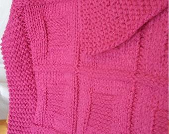 Hot Pink Baby Blanket