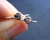 Sterling Silver ear wires - French ear wires - findings - little dainty leaf