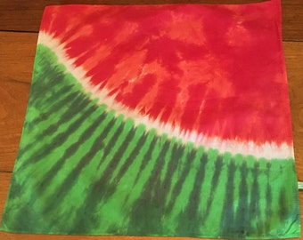 Tie Dye Bandana in Watermelon Slice