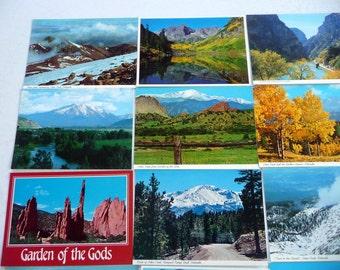 15 Vintage Colorado postcards pikes peak