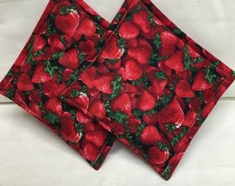Strawberries Pot Holders set of 2