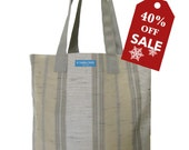 40%off Holiday Sale! T3 SUN Nu Beige bucket shopping tote bag TESAGE by Yukiko Sato New York