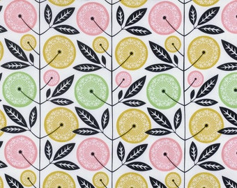 Cali Mod Floral Stalk in Cactus - Cali Mod Collection by Joel Dewberry FreeSpirit Fabrics - starting at a quarter yard, cut continuously