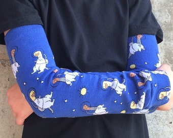 Children's Leg or Arm Warmers - Dinosaurs in Space - Leggings for Baby, Toddler, Kid, Tween, Boys or Girls - Fun for Birthday or Shower Gift