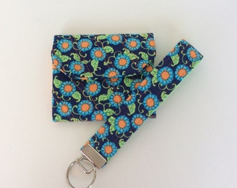 Mini-Wallet Quilted Matching Key Fob Amy Butler  FREE Domestic Shipping