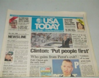 USA Today Newspaper July 17 19 1992 12162 Presidential Campaign CLinton Perot