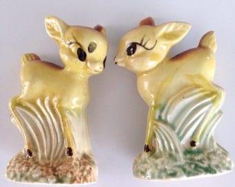 Vintage Deer Salt and Pepper Shakers Made in Japan