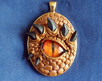 Dragons' Eye Amulet Necklace OOak Sculpt
