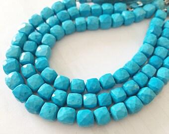 Gorgeous turquoise 3D cubes 18.00