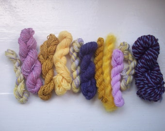 Grab bag assorted yarn 50g purple yellow GB FE1602
