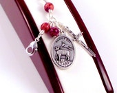 Agnus Dei Catholic Rosary Bracelet In Purple Imperial Jasper by Unbreakable Rosaries