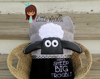 3D Sleepless Sheep Troublesome Sheep Shaun Sheep Hooded Towel