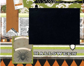 Every Little Thing She Does is Magic - 12x12 Premade Scrapbook Page - Halloween
