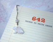 Rabbit metal bookmark - w...