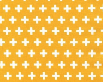 Geometric fabric, Plus fabric, Remix fabric by Ann Kelle and Robert Kaufman- Remix Plus in Yellow, Yellow fabric, Quilt, Choose the cut