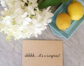 Invitation Stamp, Shhh it's a surprise, Rubber Stamp, Wedding