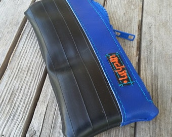 Eco Friendly Pouch - Made with Recycled Bike Tubes - Orange Change Purse