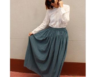 Long elastic waist boho hippie sweet skirt one size fit all (LK 1)