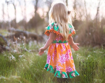 Girls Dress Pattern - The Celebration Dress - sewing tutorial PDF newborn through 12 girls