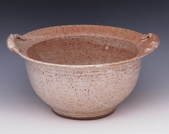 stoneware serving, cooking bowl with handles