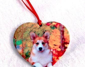 Corgi heart ornament, dog gift,Corgi keepsake, Corgi  gift, Corgi memory, Corgi keepsake,corgi heart,Pembroke corgi