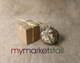 """Natural Grapevine Bird Nesting Ball Stuffed with Wool Fleece and Jute Twine Now in Two Sizes,  3"""" or 4"""""""