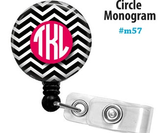 Personalized ID reel with MYLAR covering......Add a Circle Monogram