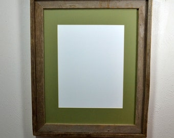 16x20 poster frame from reclaimed wood with mat 11x17 or 12x18