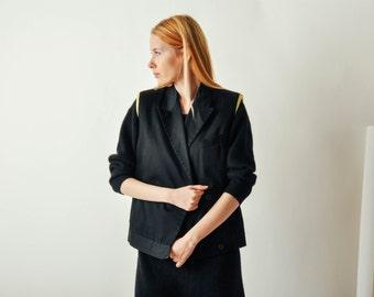SALE - Vintage Black Versace Vest