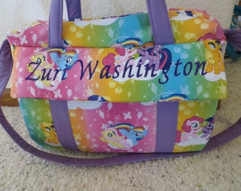 My Little Pony Diaper Bag with changing pad  by EMIJANE