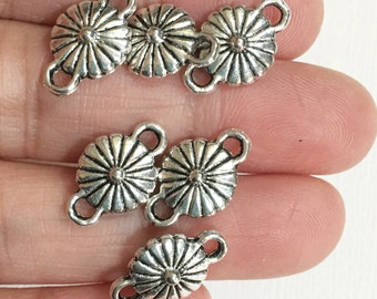 20 pcs of Antique silver  connector 16x10x5mm, silver flower connector, silver flower links