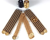 DIY Tutorial - Wide Crochet Bracelet - Easy Crochet Pattern Instructions - Bracelet made with Beads & C-Lon Bead Cord and Easy Crochet Steps