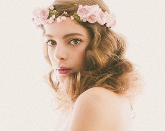 Lavender Flower Crown, Purple floral wreath, Bridal hair circlet, Plum wedding headpiece, Woodland wedding crown, Bridal hair alternative