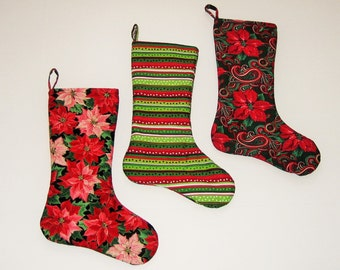Christmas Stocking Red Green (Set of 3)