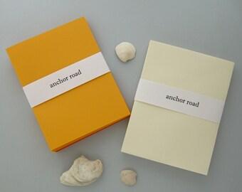 Autumn Stationery, Fall Card Set, DIY Halloween Cards, Yellow Stationery, Orange Stationery, Autumn Cards, DIY Stationery