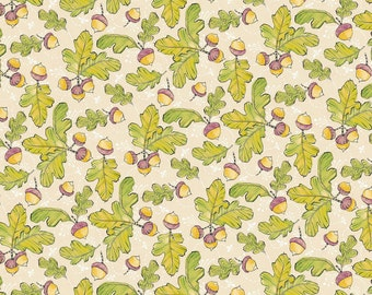 Good Company-Little Acorns Ivory-Blend Fabrics - Cotton Fabric- Quilt- Sew- Craft- Fabric by the yard & half yard.