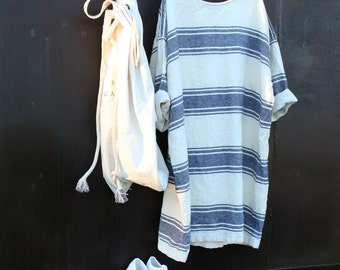 Nautical Linen Dress
