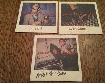 Set of 3 Vintage Cardinal Draft Beer Advertising Coasters