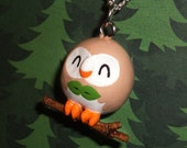 Pokemon - Rowlet Charm Necklace - Sun and Moon Starter