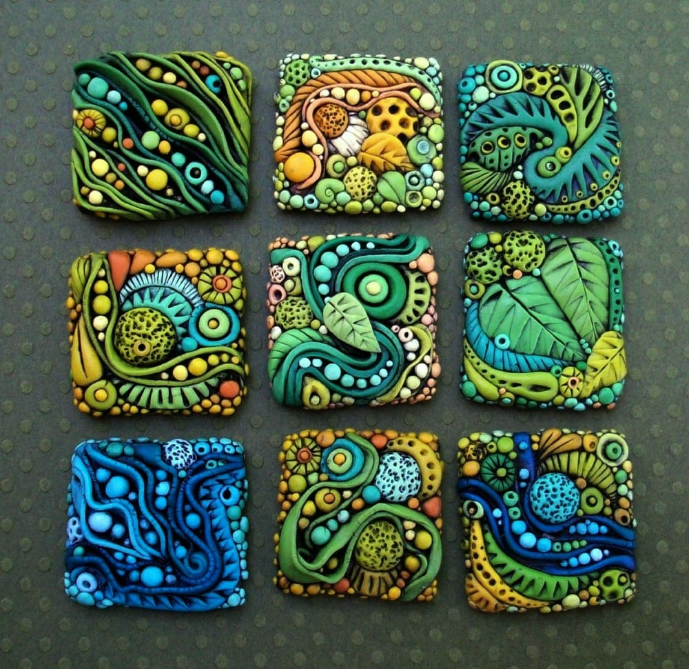 Tiny Textured Tiles A Polymer Clay Pdf Tutorial Inchie