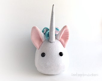 Kawaii Unicorn Plush, Stuffed Small Mythical Pony Handmade Plushie, READY TO SHIP