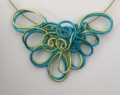 Wire Swirls and Curls Necklace