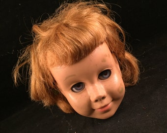 Vintage Chatty Cathy Doll Head with Sleepy Eyes (Great for Altered Art or Destash)